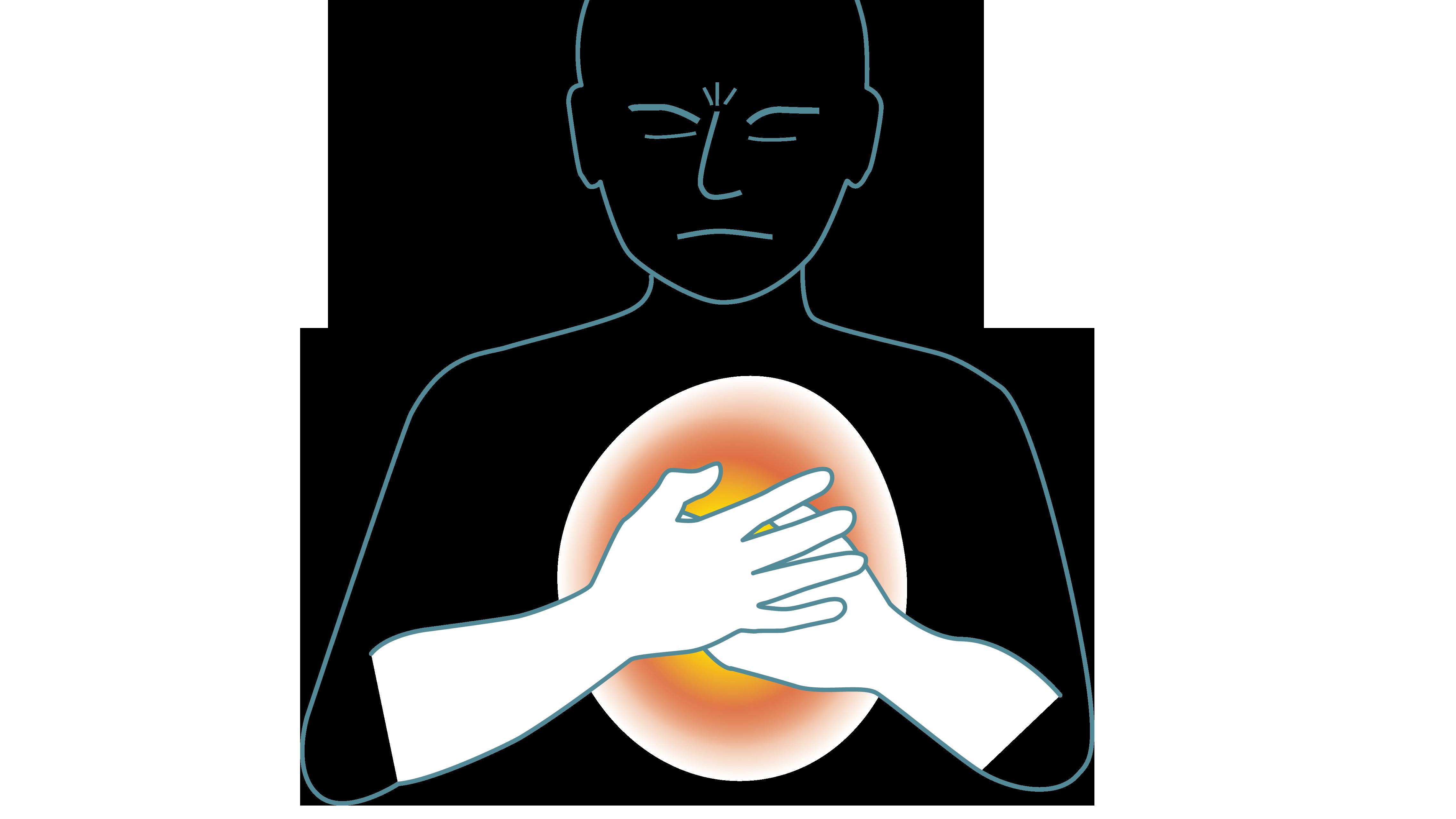 smärta under vänstra bröstet